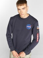 Alpha Industries Pullover Space Shuttle blau