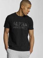 Alpha Industries T-Shirt Camo noir