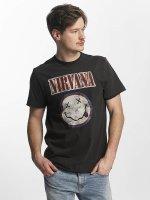 Amplified t-shirt Nirvana Colour Smiley grijs