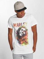 Amplified T-skjorter Bob Marley Water Color hvit