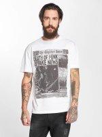 Amplified T-skjorter Punk Newspaper hvit