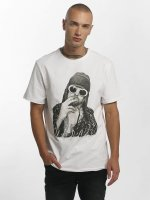 Amplified T-skjorter Kurt Cobain hvit