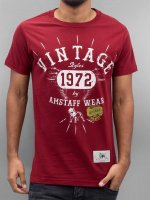 Amstaff Tričká Vintage èervená