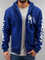 Amstaff Zip Hoodie Logo blau