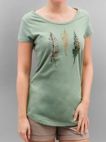 Authentic Style T-Shirt Urban Surface Feathers green