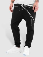 Bangastic joggingbroek WhiteStripes zwart