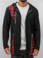 Bangastic Sweat capuche zippé Plaid noir