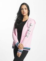 Bench Hoodies con zip Logo Zip Through rosa