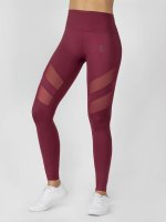 Beyond Limits Leggings Super High Waist Mesh röd