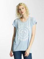 Brave Soul t-shirt Burn Out Crew Neck blauw