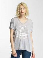Brave Soul T-Shirt Soul Burn Out V-Neck gris