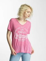 Brave Soul T-Shirt Soul Burn Out V-Neck pink
