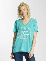 Brave Soul T-Shirt Soul Burn Out V-Neck turquoise