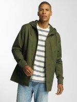 Brave Soul Transitional Jackets Snap Front Hooded Bonded khaki