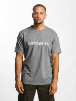 Carhartt WIP T-paidat Script harmaa