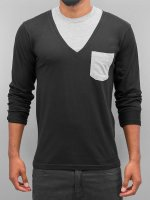 Cazzy Clang T-Shirt manches longues Breast Pocket noir