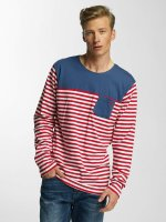 Cazzy Clang T-Shirt manches longues Stripes rouge