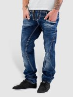 Cipo & Baxx Straight Fit Jeans Triple Collar blau