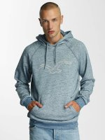 Cleptomanicx Hoody Vintage Embroidery blau