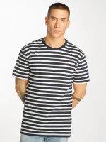 Cleptomanicx T-Shirt Classic Stripe 2 blau