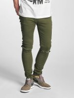 Criminal Damage Jean skinny Ripper olive