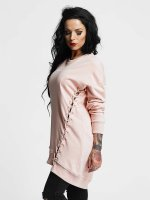 Criminal Damage Pullover Giovanni Long pink