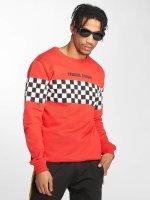 Criminal Damage Swetry Chequerboard czerwony