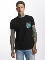 Criminal Damage T-Shirt Meadow Pocket noir