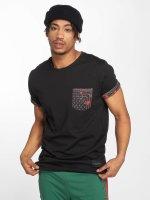 Criminal Damage T-Shirt Avi Pocket schwarz