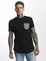 Criminal Damage T-Shirty Chequer Pocket czarny