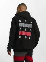 Dangerous DNGRS Hoodies con zip Uncaged nero