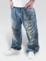 Dangerous DNGRS Spodnie Baggy Hemp niebieski