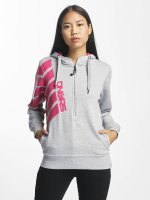 Dangerous DNGRS Sweat capuche Pinkstripes Zip gris