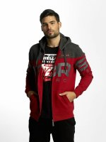 Dangerous DNGRS Sweat capuche zippé Two Tone rouge
