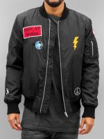 DEF Bomber jacket Peace black