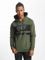 DEF Hoodies Felix oliven