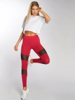 DEF Leggings/Treggings Leggings czerwony