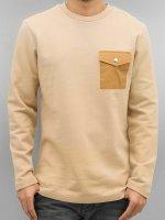 DEF Pullover Strapes beige