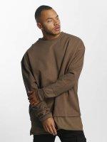 DEF Pullover Terry braun
