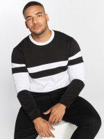 DEF Pullover Striped schwarz