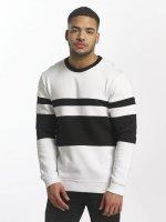 DEF Pullover Striped weiß