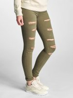 DEF Skinny jeans Cut olijfgroen