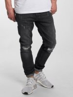 DEF Slim Fit Jeans Destroyed grijs