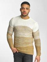 DEF Swetry Striped bezowy