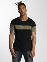 DEF t-shirt Stripe zwart