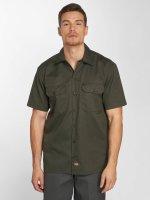 Dickies Shirt Shorts Sleeve Work olive