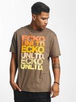 Ecko Unltd. Tričká Fuerteventura hnedá