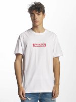 Famous Stars and Straps T-shirt Famous Box Logo bianco