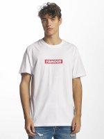 Famous Stars and Straps T-skjorter Famous Box Logo hvit