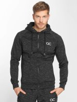 GymCodes Sweat capuche zippé Athletic-Fit noir